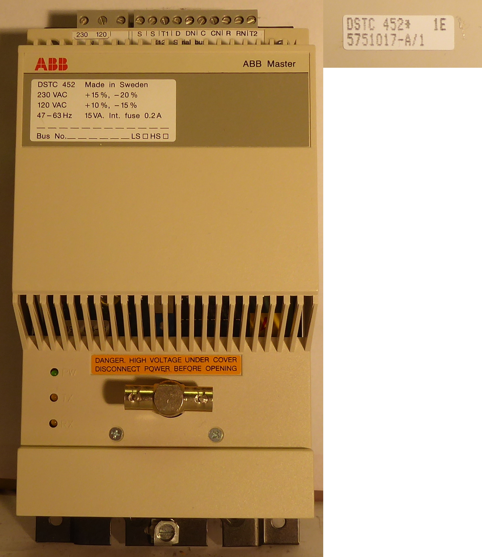 Allserv As Under Current Relay Abb Dstc 452 5751017 A 1